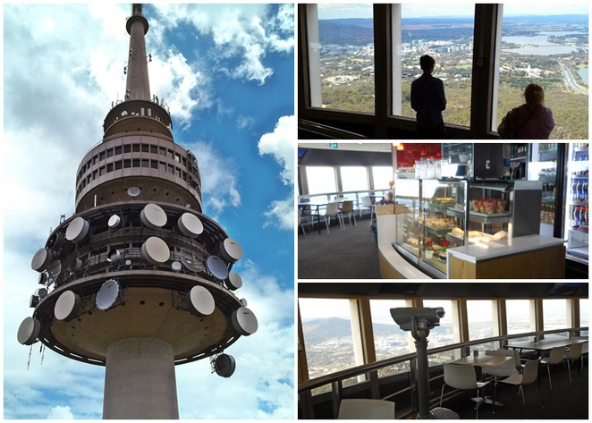 tesltra tower, cafe, cafes with views, canberra, ACT, coffee, lunch, views, lookouts,