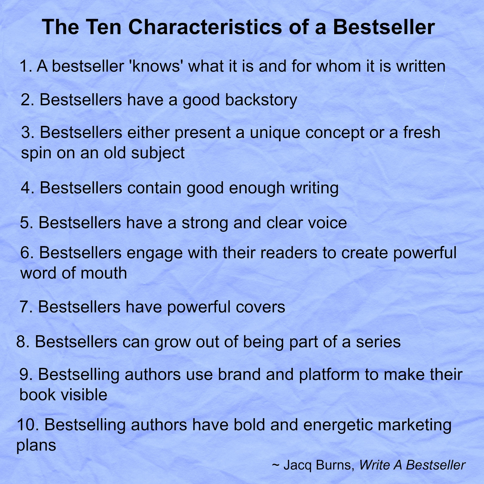 writing a bestselling book