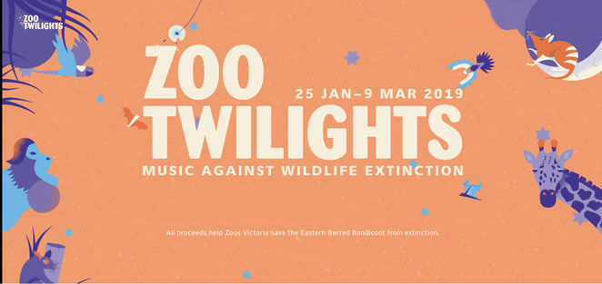 zoo twilights 2019, entertainment, performing arts, bands, vocalists, live music, music against wildlife extinction, community event, fun things to do, animal protection, save the eastern barred bandicoot, fight against extinction, animal lovers, zoos victoria, client liaison, kira puru, briggs and archie roach, alice skye, sampa the great, remi, daryl braithwaite, vera blue, cat power, ross wilson, the cat empire, aloe blacc, the meltdown, kaiit, mojo juju, rufus wainwright, hanson, the internet, marlon williams, laura jean, triple r, rrr, agl