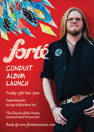Forté set to launch debut album 'Conduit' at The Church of the Trinity.
