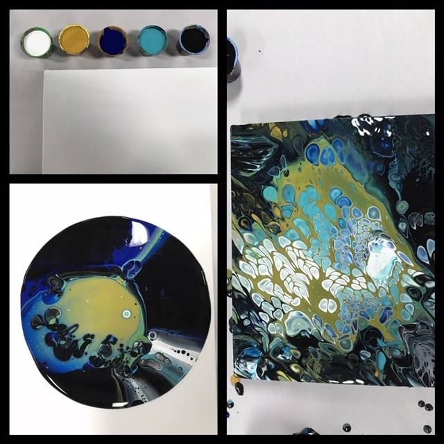 acrylic painting pouring