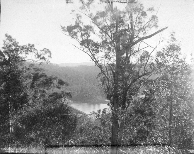 Aerial view Enoggera Reservoir 1894. Image from State Library of Queensland.
