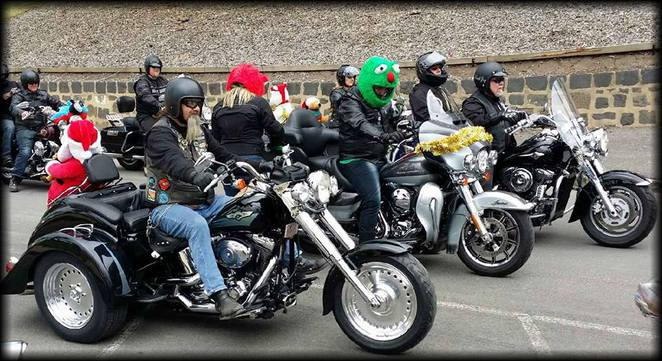 Bikes on the Annual Toy Run