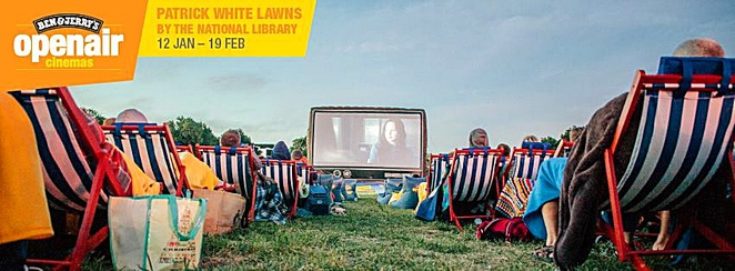 ben and jerrys openair cinema, canberra, patrick white lawns, ACT, january 2017, february 2017