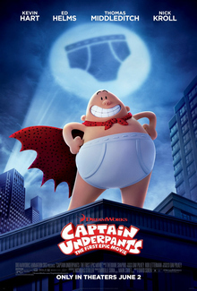 Captain Underpants, kids movies 2017