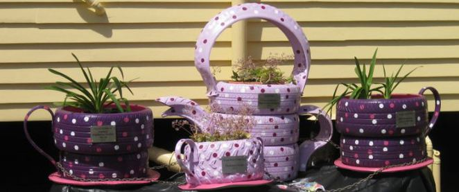 Carnival Teapot Extravaganza Tyre Teapots