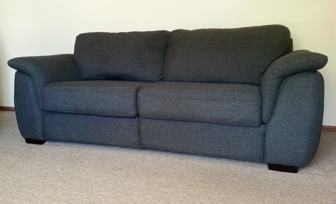 Couch, sofa, furniture, lounge room, grey, 2-seater, donate furniture,