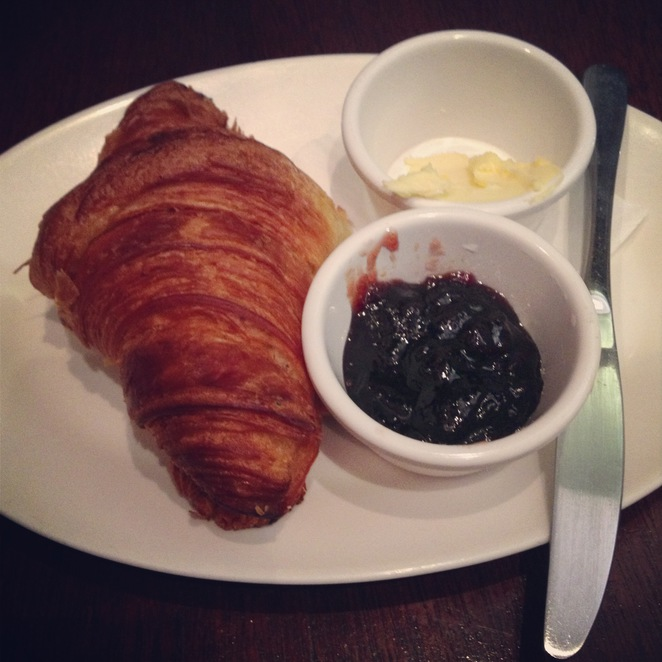 croissant, butter, jam, coffeeshop, cafe, sweet
