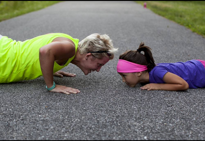 Exercise, exercise with kids, getting fit, healthy