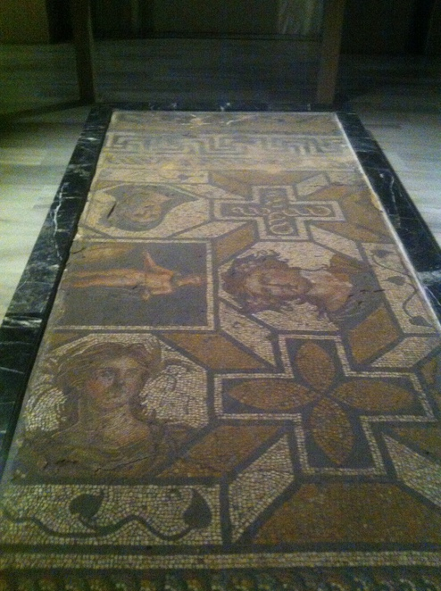 floor, mosaic, roman, istanbul, museum, archaeology
