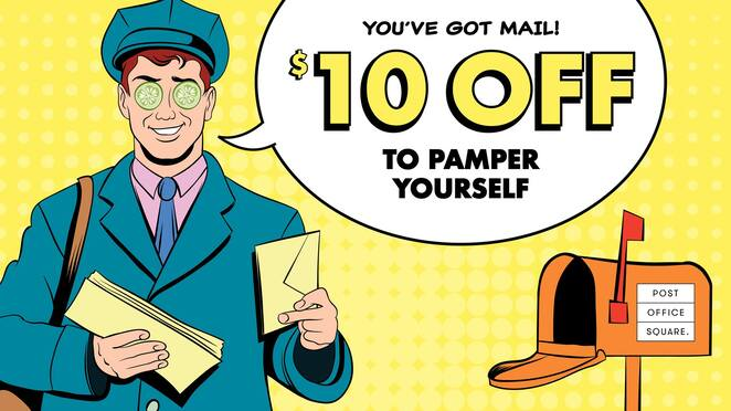 free voucher post office square treat yourself