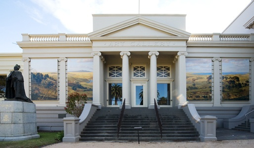 Geelong Art Gallery, facing Johnstone Park