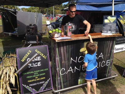 Grabbing a drink from Noosa's Natural Cane Juice
