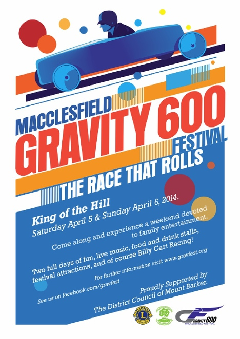 gravity festival macclesfield, macclesfield sa, macclesfield hotel, billy cart racing, water rocket launcher, battunga country, built heritage, billy cart, market stalls, free