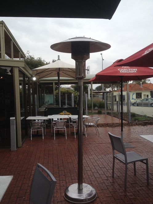 Heaters at Barwon Heads Hotel