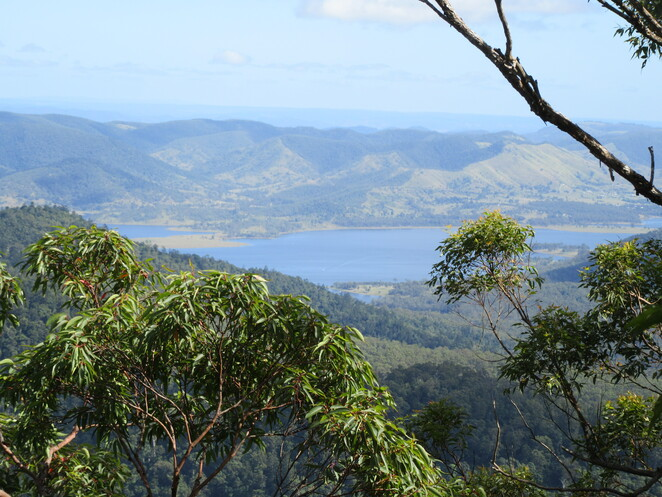 view of Lake Wivenhoe from Somerset Lookout