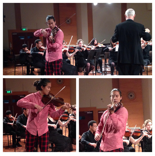 Jennen Ngiau-Keng performing with The Melbourne String Ensemble