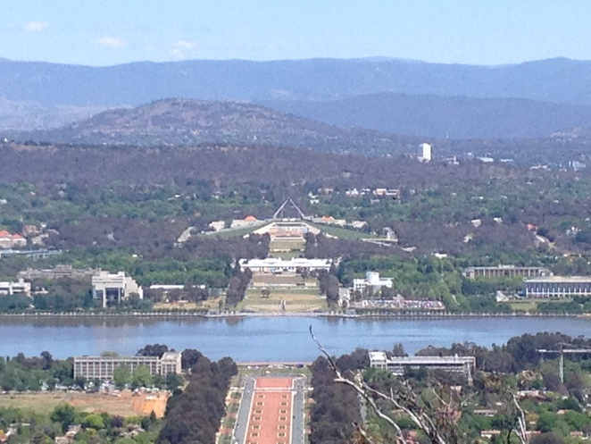Lake Burley Griffin from Mt Ainslie