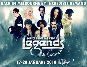 Legends in Concert at The Palms Crown Casino