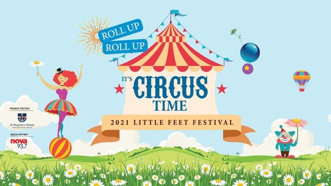 little feet festival 2021, it's circus time, city of joondalup, community event, fun things to do, edith cowan university joondalup, fun for kids, free kids event, circus workshops, marvellous maze, entertainment, activities, performances
