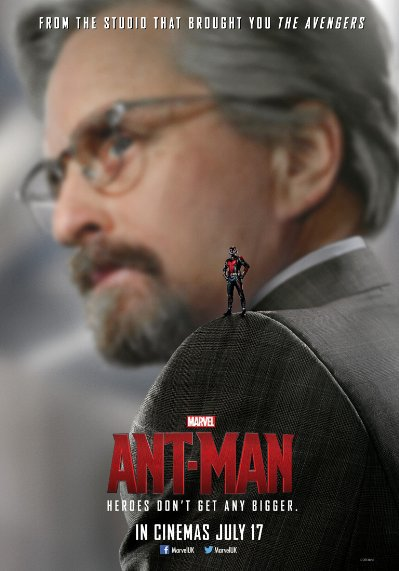 Marvel's Ant-Man poster Michael Douglas as Hank Pym
