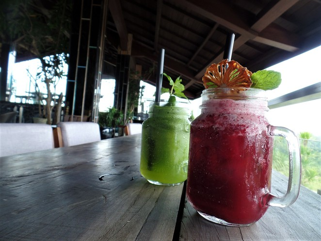 mocktails at UNIQUE Rooftop Bar & Restaurant at Rimba Jimbaran Bali by AYANA