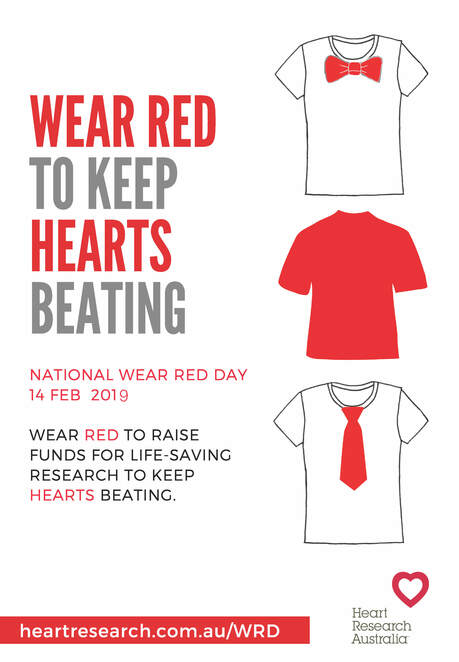 National Wear Red Day, Heart Research Australia, Wear Red, Valentines Day