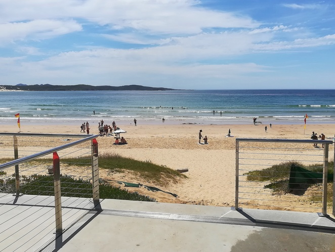one mile beach, nelson bay, shoal bay, anna bay, port stephens, best beaches in port stephens, beaches with flags, NSW, family friendly, with toilets, with surf club,