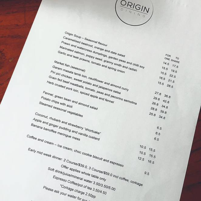 Origin Dining, Restaurants, Origin Dining Willoughby, Weyman Leong