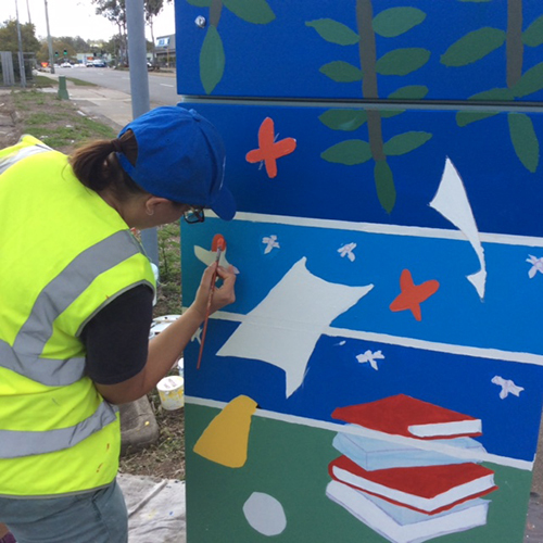 painting a traffic box