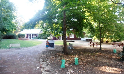 The picnic area at the Perth Hills Discovery Centre.