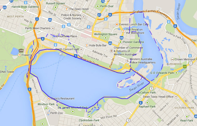 Perth, water, walk, ride, bicycle, bike, history, south, foreshore, river, swan
