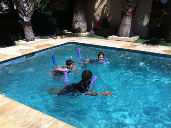 pool games, swimming, water play