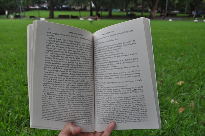 Reading at Belmore Park