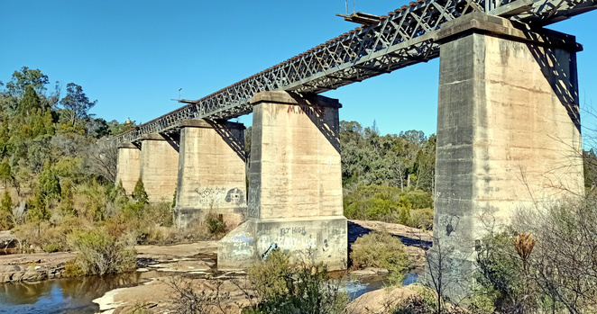 The historic Red Bridge in Stanthorpe