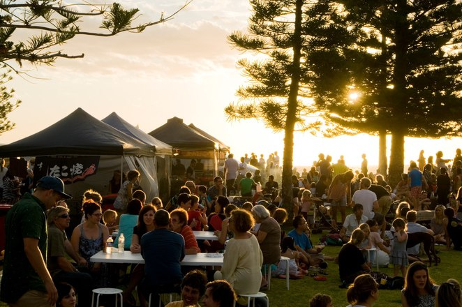 South Beach Sunset Markets, Fremantle, western australia