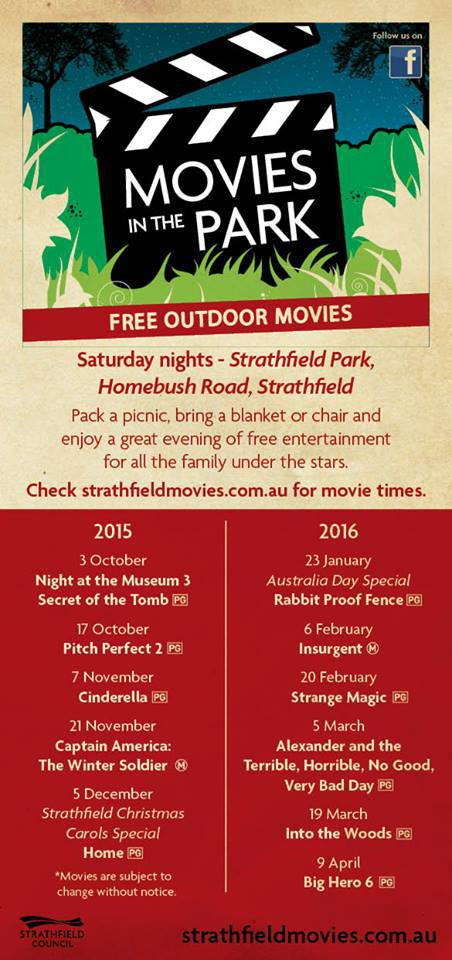 Strathfield Movies In The Park 2015