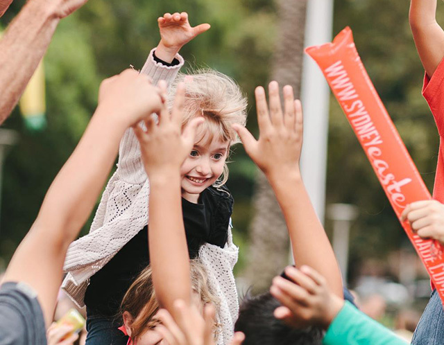The Sydney Easter Parade and Family Day is a day of fun for children.