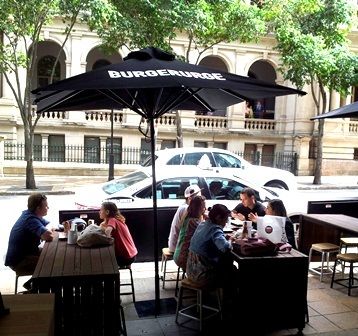 the treasury, treasury casino, george st, burger urge, burger, alfresco, dining