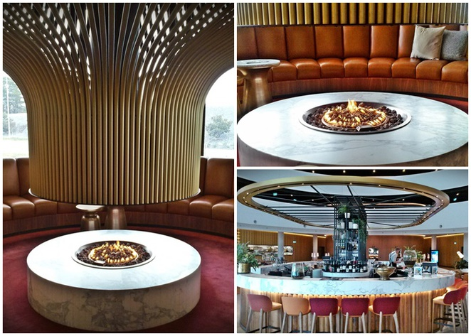 vibe hotel, helix bar and dining, fireplace, canberra, ACT, canberra airport, winter, coffee, drink,