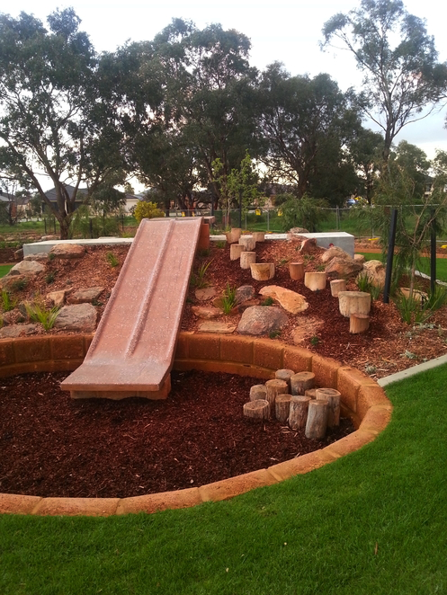 wattle grove, playscape, lenihan corner, slide, playground, nature, discovery