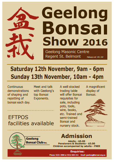Geelong Bonsai Show