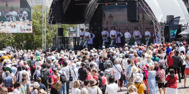 2018 polish festival at federation square, polish festival 2018, federation square, cultural event, community event, fun things to do, taste of poland, traditional dance, traditional polish costume, entertainment, food, market, deakin edge, kidstop, lot polish airlines