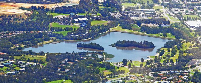 Aerial Lillydale Lake.