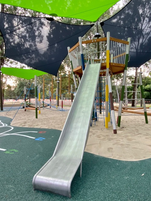 The super new slide that brings children back to land