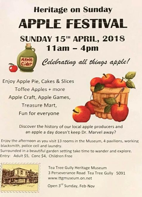 Apple Festival at Tea Tree Gully Heritage Museum, apple festival, Tea Tree Gully Heritage Museum, Tea Tree Gully, apples, museum, national trust, south australia, apple