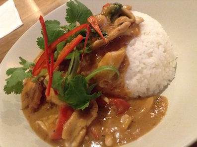 #AtEase chicken curry with rice
