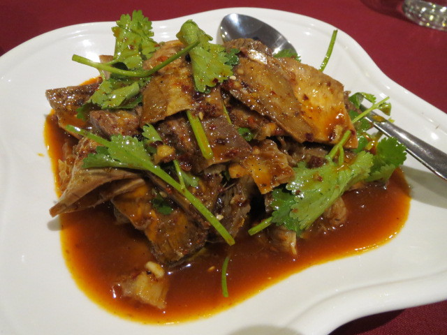Ba Guo Bu Yi Chinese Restaurant, Braised Beef Slices with Hot Chilli Sauce and Garlic, Adelaide