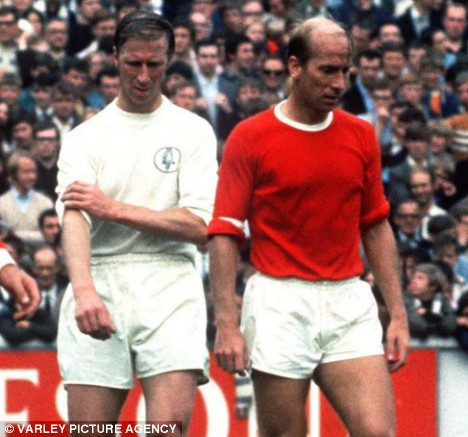 Bobby and Jack Charlton in their Team colours