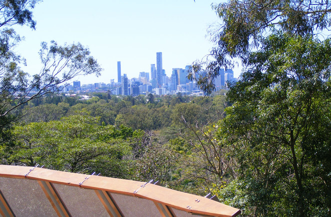 The view from the Botanic Gardens Lookout